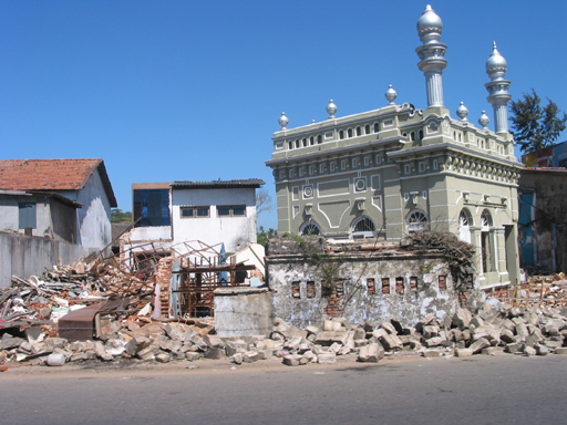 damage in the town of Galle