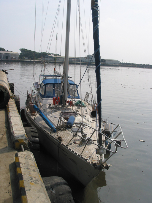 Callisto lying at the end of the clinker pier