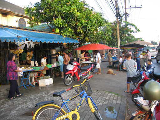 The morning market near Boat Lagoon