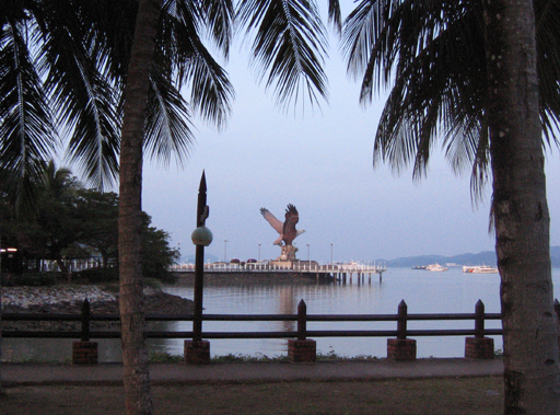Statue of the state bird of Langkawi