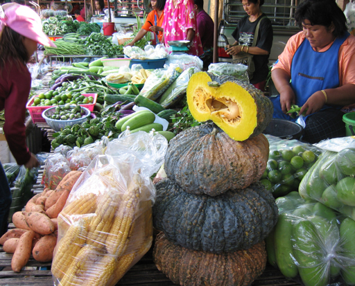 Squash in the market