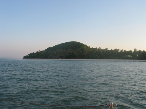 Head land on the south coast of Phuket Island