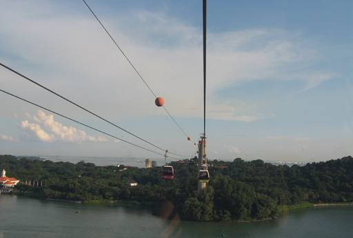 Cable cars to Sentosa Island