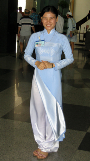Lady in traditional ao dai