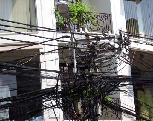 Telephone/electrical wiring in HCMC