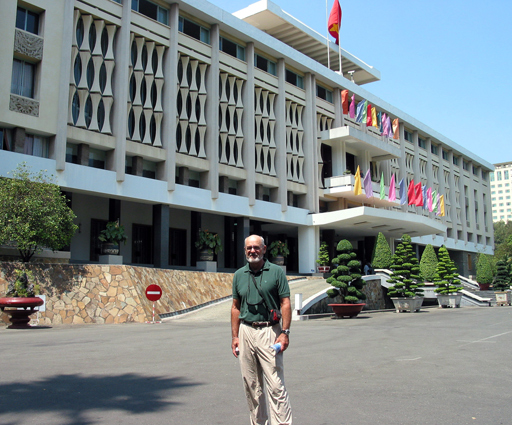 Walt in front of the Reunification Palace