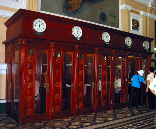 Phone booths in the main post office at HCMC
