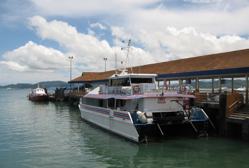 The ferry to Penang lying at Langkawi