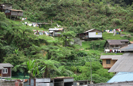 Orang Asli village in the Highlands
