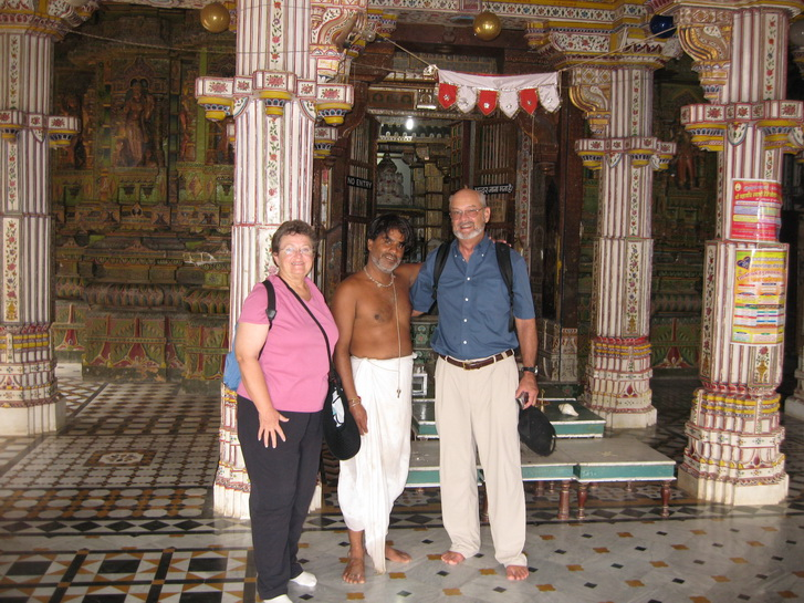 Walt and Jane with the Jain priest