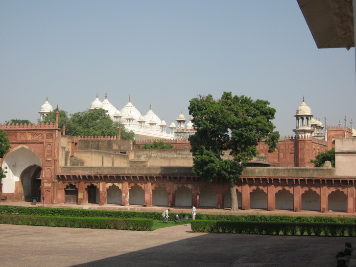 Interior of Agra Fort