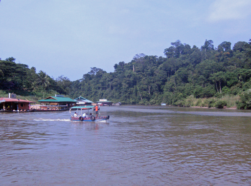 Ferry boat crossing into Taman Negara