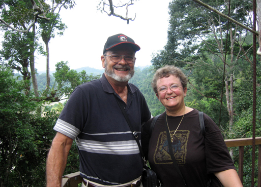 Jane and Walt on the canopy walkway