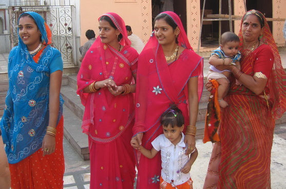 Indian ladies in saris