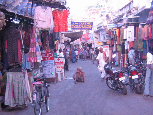 Street scene of Pushkar