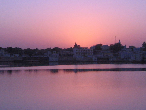 Sunset over Lake Pushkar