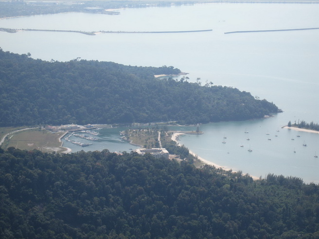 View of Telaga Marina from the mountain