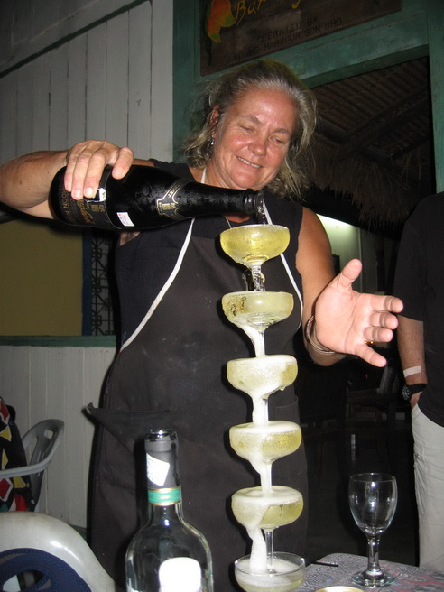 Champagne being poured